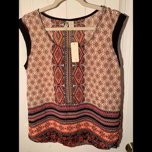 Shirt sleeve blouse, great fall colors